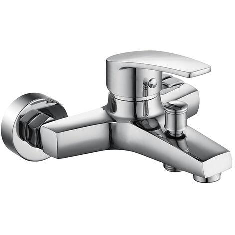 Grifería de baño monomando Grifo de ducha Mezclador de ducha para bañera Grifo mezclador de latón cromado