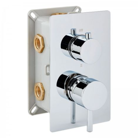 Grifería de ducha empotrable de alta calidad UP13-01 con inversor de 3 salidas - mangos redondos