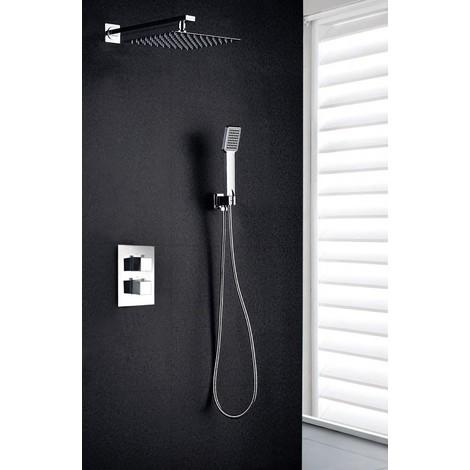 Griferia de ducha empotrada de acero inoxidable termostática pared Serie Cies - IMEX