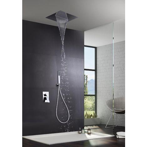 Grifería de ducha empotrada pared acero inox serie Málaga - IMEX