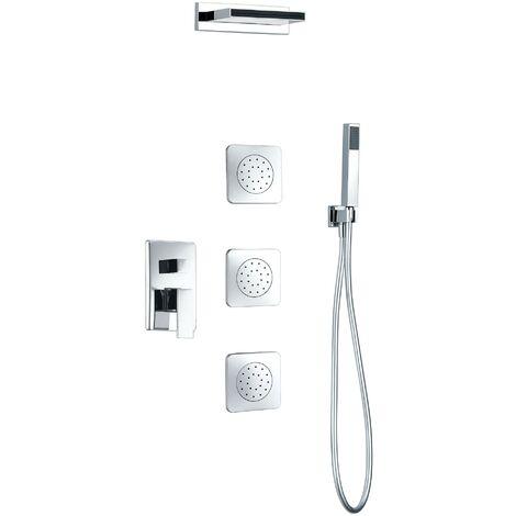 Griferia de ducha empotrada pared cromado monomando Serie Formentera - IMEX