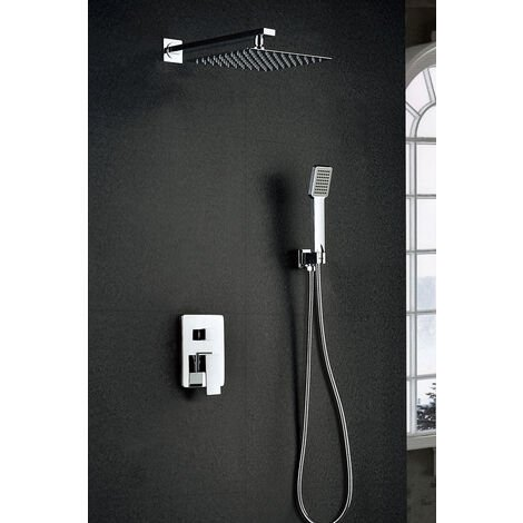 Griferia de ducha empotrada pared de acero inoxidable monomano Serie Dublin - IMEX