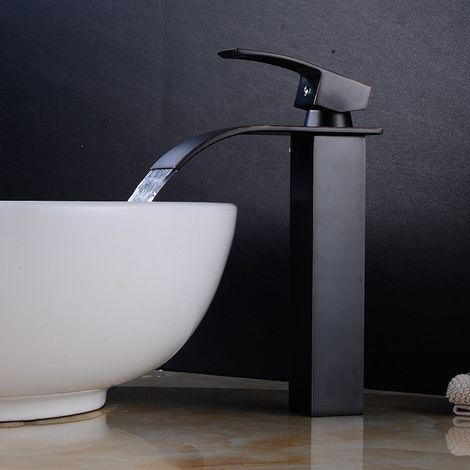 Grifería de lavabo altura 300 mm acabado pintura negra