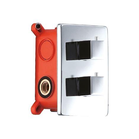 Grifería empotrada termostática tres vías - IMEX