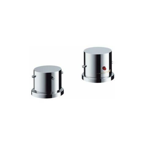 Grifería para bañera de 2 agujeros Hansgrohe Axor Starck con termostato y Zerogriffe, color: cromado - 10480000