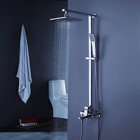 """Grifería y bañera modernas con ducha de mano de 8 """"+ ducha de mano"""