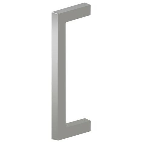 Griff eckig, selbstklebend, Metall, 2 Stk., 41x113,5 mm, silber