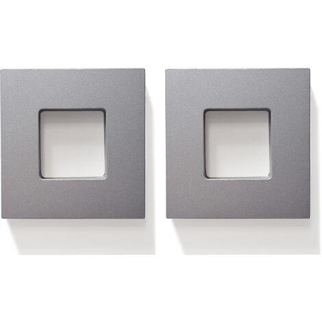 Griff Türgriff Quadratgriff 2er-Set Türbeschlag Aluminium selbstklebend