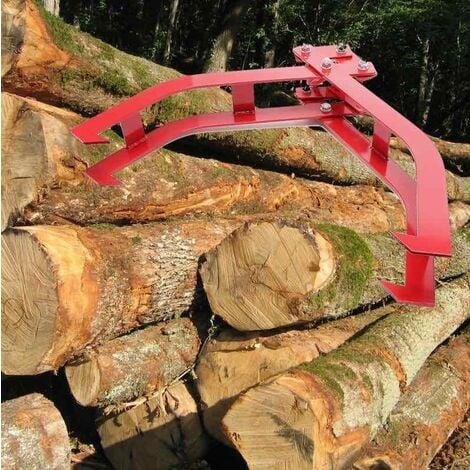 Griffe à bois ou pince pour soulever tronc et grumes facilement - Rouge