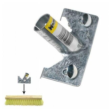 Griffe pour brosse balayeuse avec trou