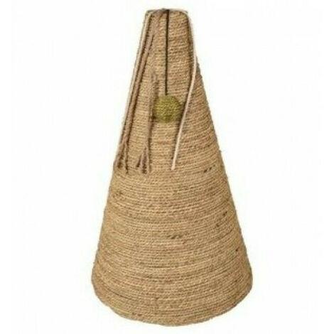 """main image of """"Griffoir à chat en forme de cône avec herbier marin 30 x 30 x 50 cm"""""""