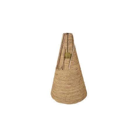 Griffoir a chat, forme cône, herbier marin, 30 x 30 x 50 cm