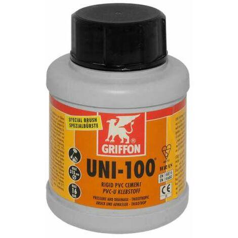 Griffon UNI-100 PVC-U Kleber mit Pinsel im Schraubdeckel, 250 ml 256001
