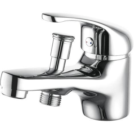 Grifo bañera-ducha monomando de 1 agujero cromado POLA BY EUROSANIT