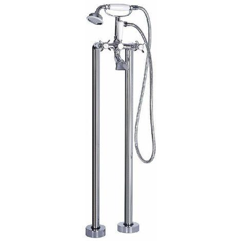 Grifo bimando retro sobre SUELO bañera/ducha VICTORIA