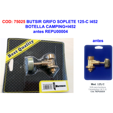 BUTSIR GRIFO SOPLETE 125-C I452 BOTELLA CAMPING=REPU0004