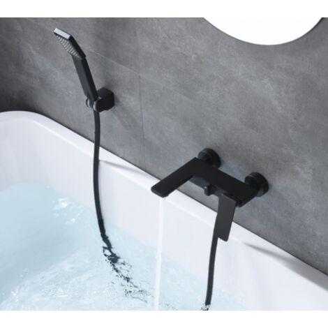 Grifo de bañera negro mate serie fiyi