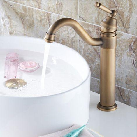 Grifo de baño retro de cobre de 1/2 pulgada