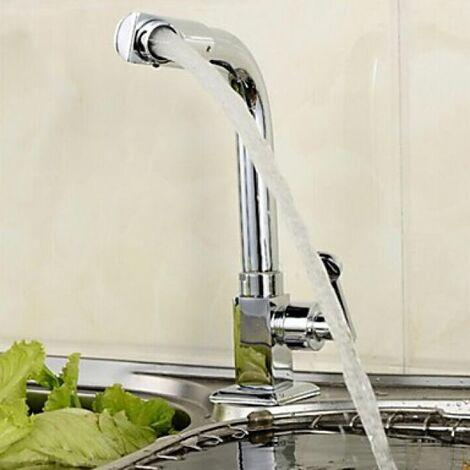 Grifo de cocina contemporánea de agua fría con caño giratorio
