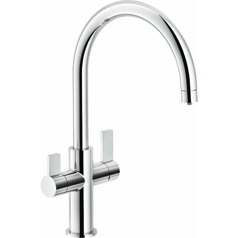 Grifo de cocina de 3 vías agua filtrada Nobili Flag FL96824/3VCR | Cromo