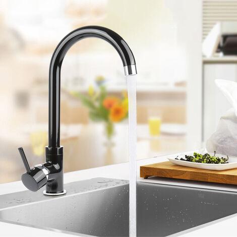 Grifo de Cocina ,Giratorio Grifo para Fregadero Doble 360°,Mezclador Agua Fría y Caliente