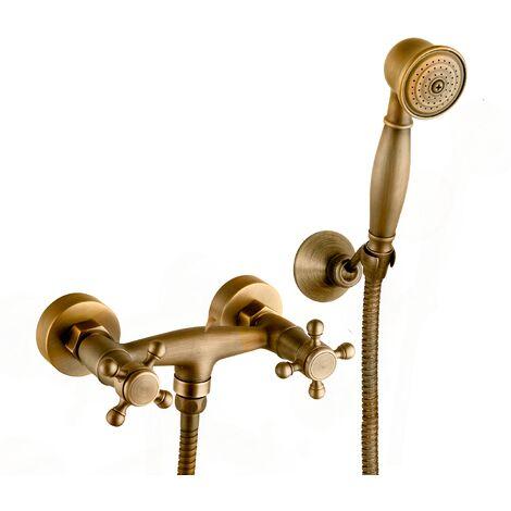 Grifo de ducha serie Almendro en bronce