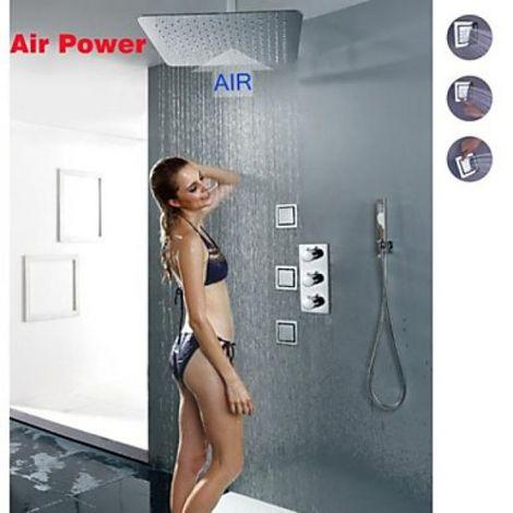 Grifo de ducha termostático con cabezal de ducha superior