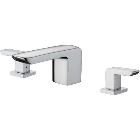 Grifo de lavabo con múltiples orificios retráctil de caño largo Libra