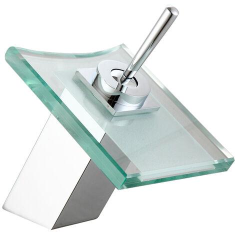 Grifo de lavabo en cristal modelo Orquídea