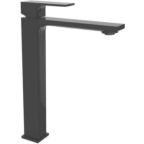 Grifo de lavabo monomando 250mm Negro Saona Slim