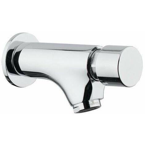 Grifo de pared con cierre automático para lavabo Idral 08200 | Cromo