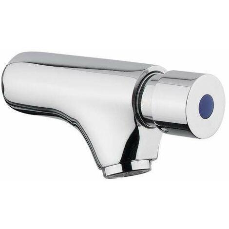 Grifo de pared temporizado para lavabo con pulsador Idral Classic 08000/E | Cromo