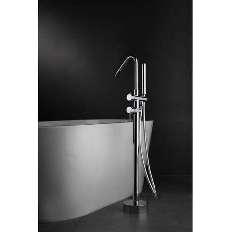 Grifo de pie de bañera cromado termostático serie Córcega - IMEX