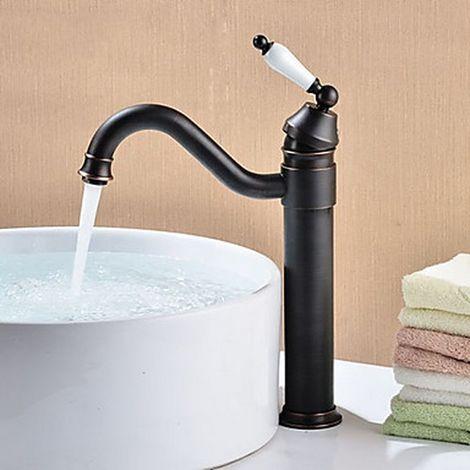 Grifo del lavabo del baño con acabado en bronce con acabado en aceite