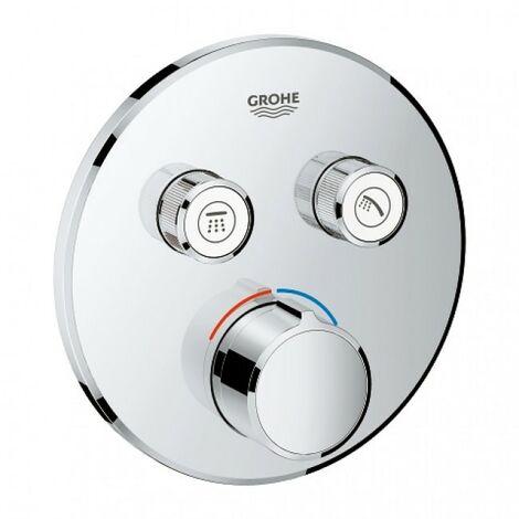 Grifo empotrado 2 llaves SMARTCONTROL - GROHE - Forma: Cuadrado