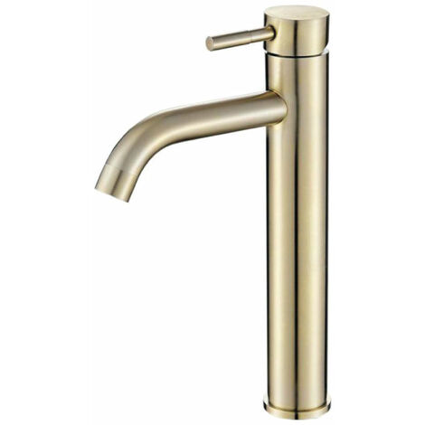 """main image of """"Grifo lavabo alto SLIGO dorado"""""""
