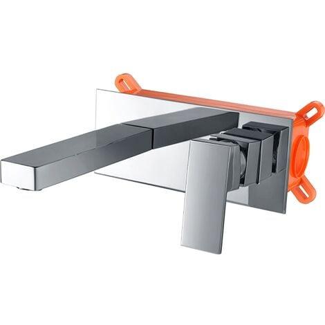 Grifo lavabo de pared empotrado cromado Serie Suiza - IMEX