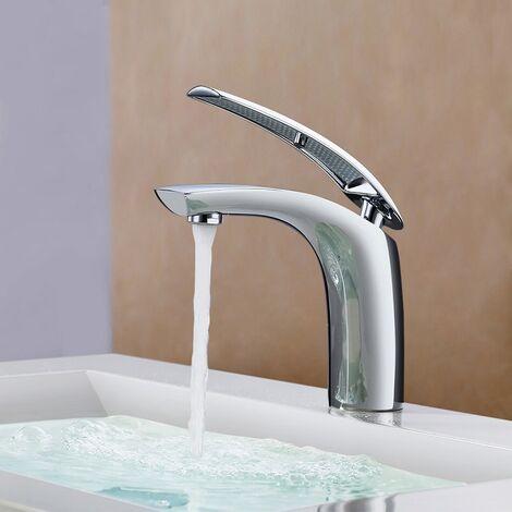 Grifo Lavabo Grifo para Baño Monomando Mezclador de Agua Fría y Caliente Grifo para Lavabo Grifería Baño HOMELODY