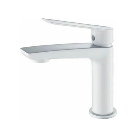 Grifo lavabo monomando blanco mate serie Luxor - IMEX