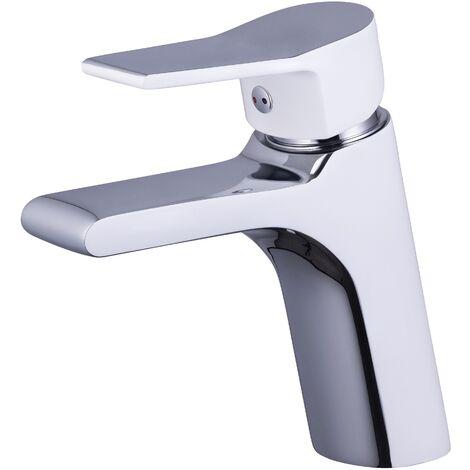 Grifo lavabo monomando cromado/blanco EOS BY EUROSANIT