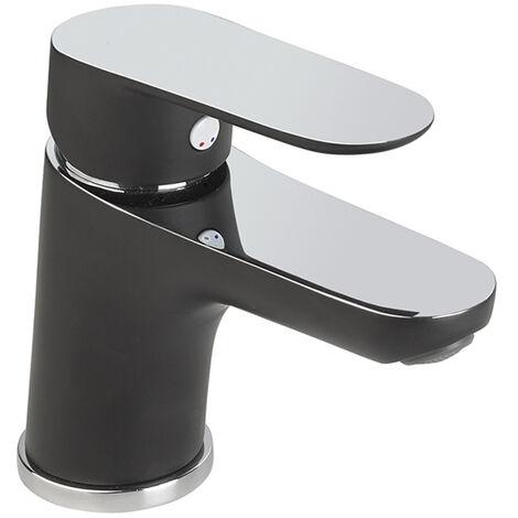Grifo lavabo monomando cromado/negro KEVON BY EUROSANIT