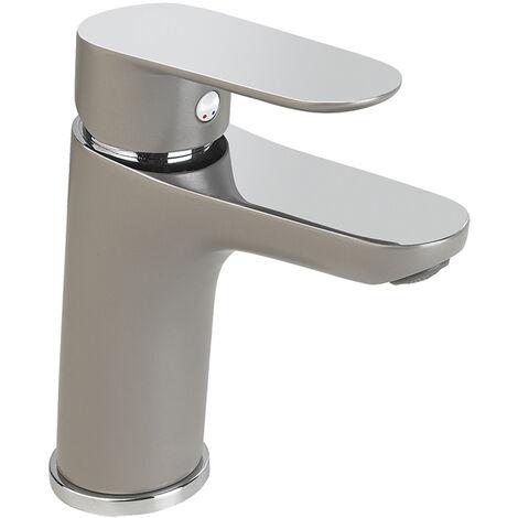 Grifo lavabo monomando MEDIUM cromado/grís KEVON BY EUROSANIT