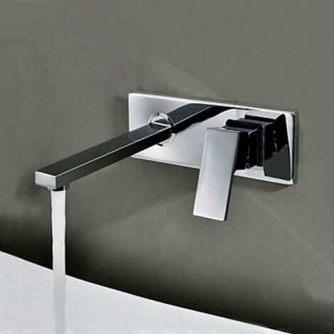 Grifo mezclador de lavabo pared empotrado, Design en latón – Aqua