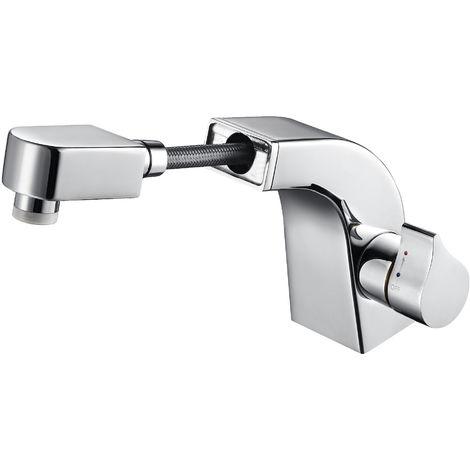 Grifo mezclador de lavabo y lavabo de calidad superior NT7060 con ducha de mano