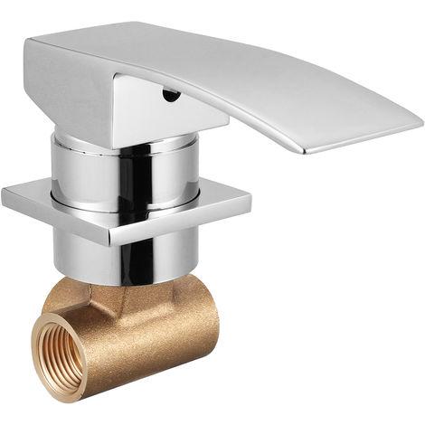 Grifo Mezclador Grifo Montado En La Pared Baño Instalación Lavabo Bañera 1/2 Pulgada Hasaki
