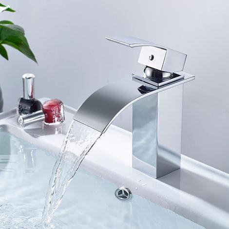 Grifo Mezclador para el Lavabo del Baño Ideal Standard Grifos Lavabo sobre Encimera, Chorro de Cascada