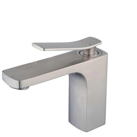Grifo mezclador para lavabo clásico de latón macizo