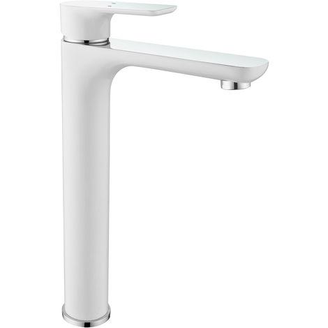 Grifo mezclador para lavabo y pila 4025CW blanco brillante