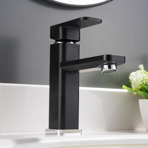 Grifo mezclador para lavabos 1233CB cromado/negro