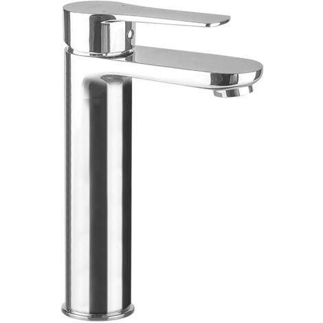 Grifo monomando de lavabo NAD alto, perfecto para lavabos de sobre encimera o tipo bol. Fabricado en latón y acabado cromo brillo. Incluye herrajes, latiguillos y cartucho. Repuestos garantizados Kibath